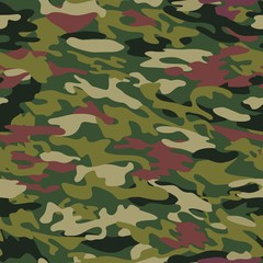Pattern of camouflage coloring wood for uniforms, clothes. Vector illustration.