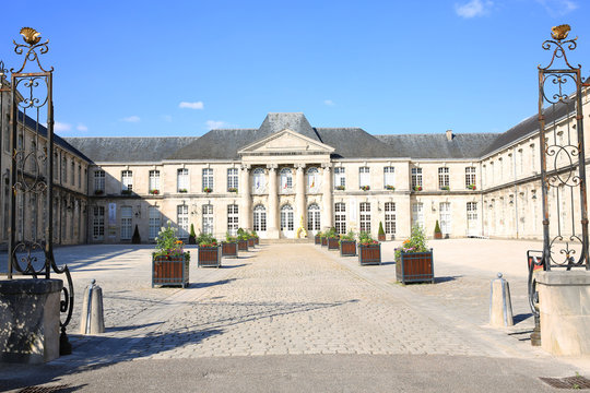 The historic Castle Stanislas in Commercy, Lorraine, Grand Est, France, (Mairie, french, Municipal Administration, Hôtel de Ville, City Hall)