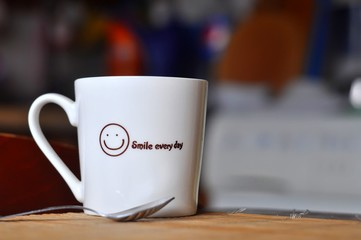 morning hot drink cup