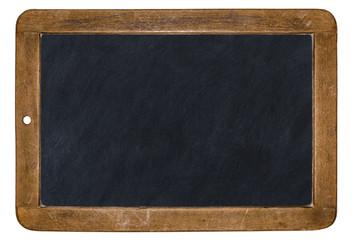 alte Kreidetafel isoliert auf weißem Hintergrund
