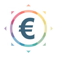 buntes Symbol - Euro Währung
