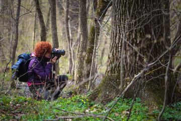 Woman nature photographer