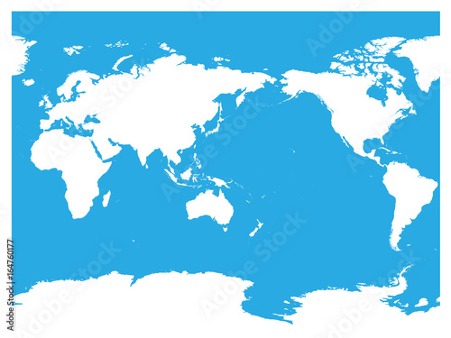 Australia and pacific ocean centered world map high detail white australia and pacific ocean centered world map high detail white silhouette on blue background gumiabroncs Image collections