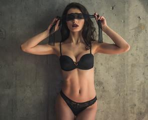 Sexy girl in linen