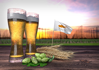 beer consumption in Cyprus. 3D render