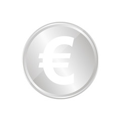 Silberne Münze - Euro