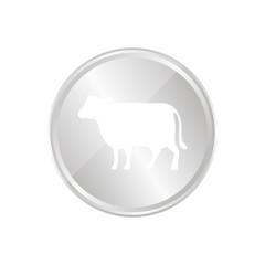 Silberne Münze - Kuh - Rind