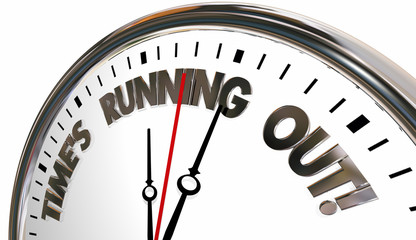 Times Running Out Clock Deadline Coming 3d Illustration