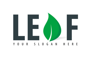 Initial Letter Leaf Design Logo