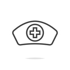 Nurse hat flat icon vector