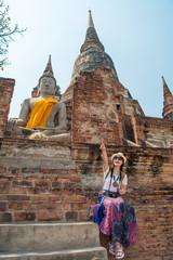 asia free vacation woman enjoying travel vacation