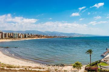 Beirut coastline at Raouche in Beirut, Lebanon.
