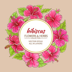 hibiscus vector frame