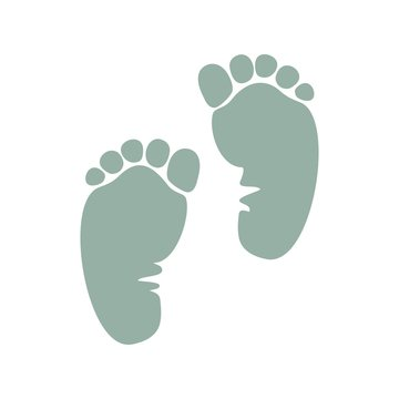 отпечаток ноги ребенка
