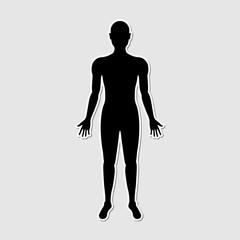 Human body paper style sticker