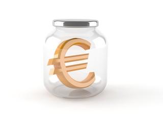 Jar with euro symbol