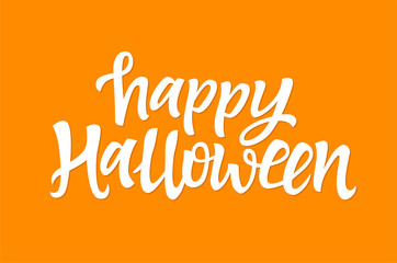 Happy Halloween - vector hand drawn brush pen lettering