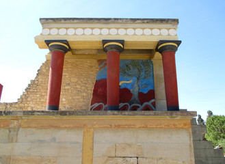 Remains of Ancient Customs House in the Palace of Knossos, UNESCO World Heritage Site on Crete Island, Greece