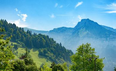 Fotobehang Alpen View of mountain in Haute Savoie, Alps, France