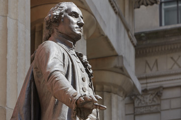 Photo sur Aluminium Commemoratif George Washington statue in front of Federal Hall, New York