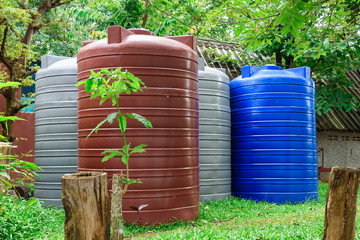 Large Tanks plastic large water liquid storage containers.