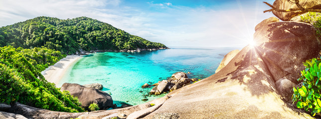 Obraz Tropical lagoon island - fototapety do salonu