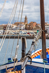 Small spanish town, Palamos, in the Costa Brava in Spain