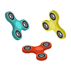 Spinner toy isometric vector illustration