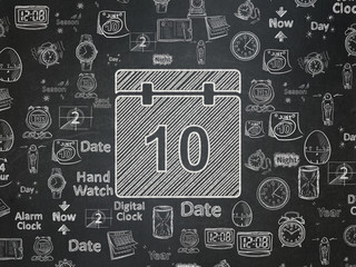 Timeline concept: Calendar on School board background