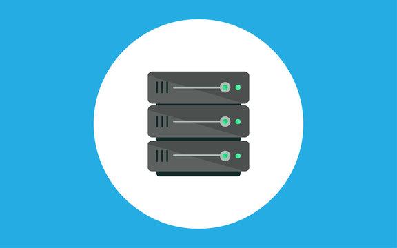 Server flat vector