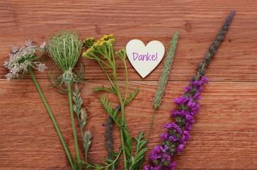 Grußkarte Blumenstrauß Danke