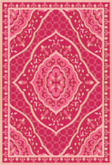 Pink template for carpet.