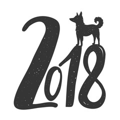 Vector Illustration, celebration typography poster with dog silhouette.