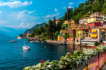 Varenna, small town on lake Como, Italy