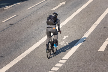 Draufsicht Radstreifen