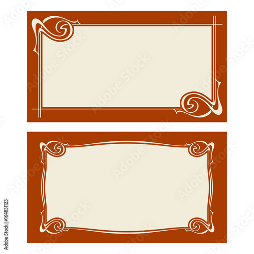 Vector Art Deco Invitation Cards Stock Image And Royalty