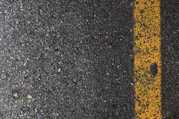 closeup wet road. top view