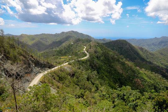Farola road between Santiago and Baracoa in Cuba