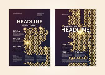 Brochure template for business, modern journal.