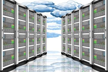 Server computer dati.. Connessione e archiviazione dati computer, applicazioni..