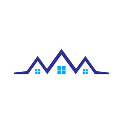 Home roof building logo vector image