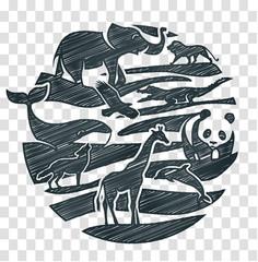 animals icon pencil drawing