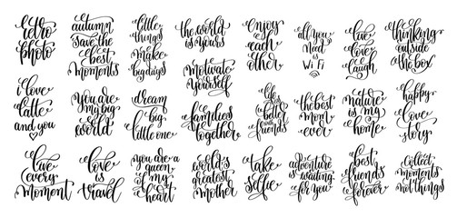 set of 25 hand lettering motivational and inspirational quotes p