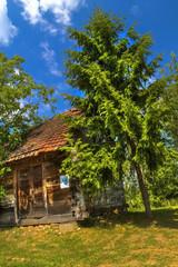 Old wooden cottage