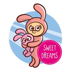 Sticker Bunny Sweet dreams