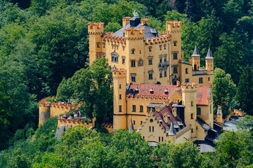 Schloss Hohenschwangau im Allgäu, Bayern