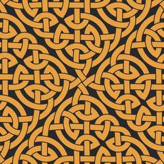 Seamless Celtic knot infinity pattern