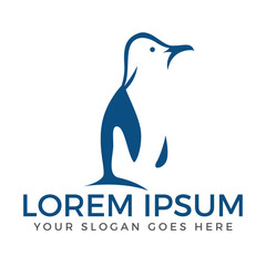 Penguin icon design. Symbol logo illustration