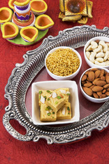 Soan Papdi with Dry Fruit, Indian Sweets