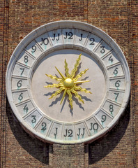 Fotomurales - Venice - Old Clock of Greek Orthodox Cathedral of St. George